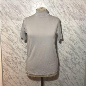 Oak + Fort mock neck top Grey Size Small